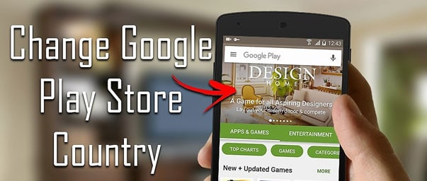 Change App Store Country for Google Play