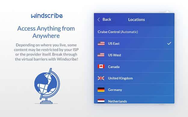 Windscribe Servers