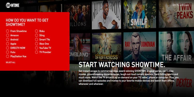 How to Watch Showtime Anytime in Australia