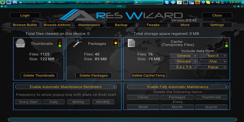 Ares Wizard Features
