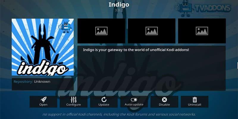 Exploring Indigo Add-on
