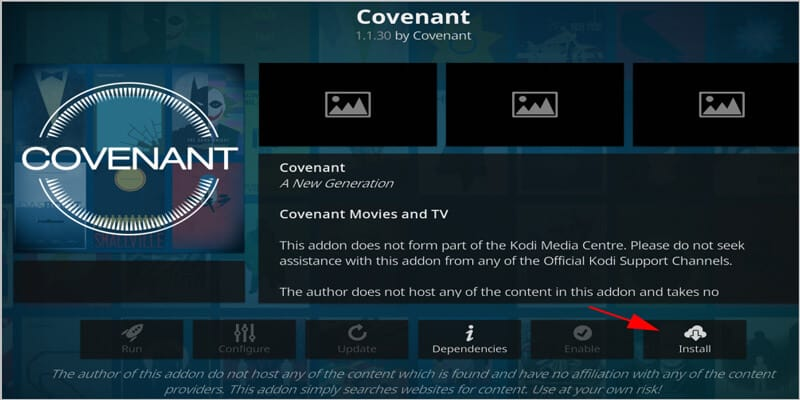 Update Covenant on Kodi