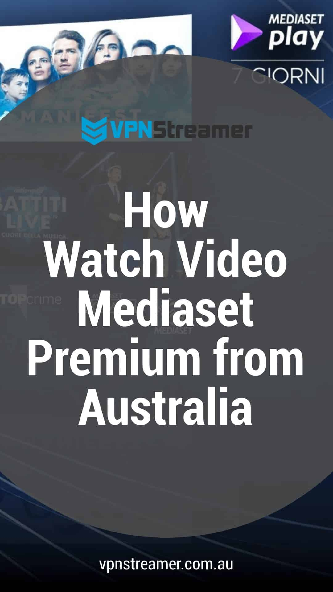 How Watch Video Mediaset Premium from Australia