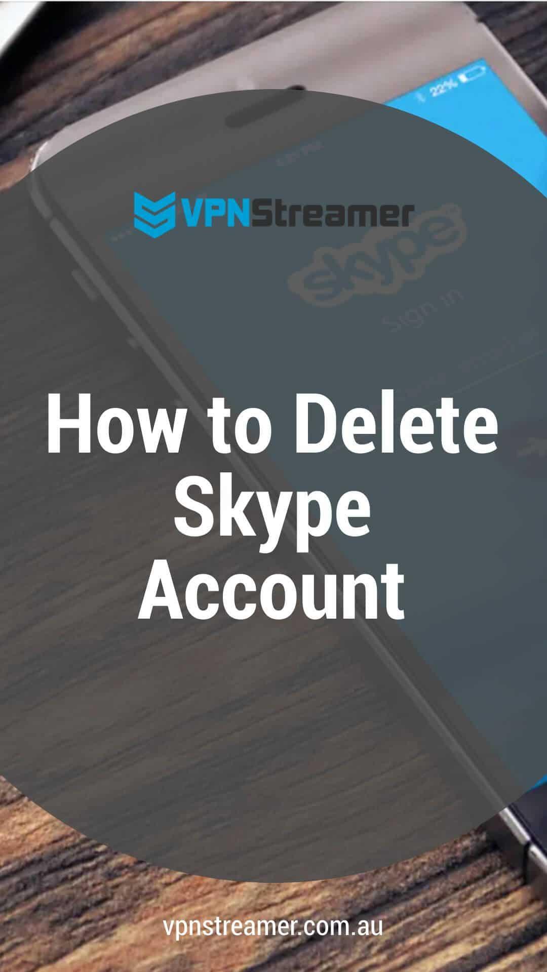How to Delete Skype Accounts