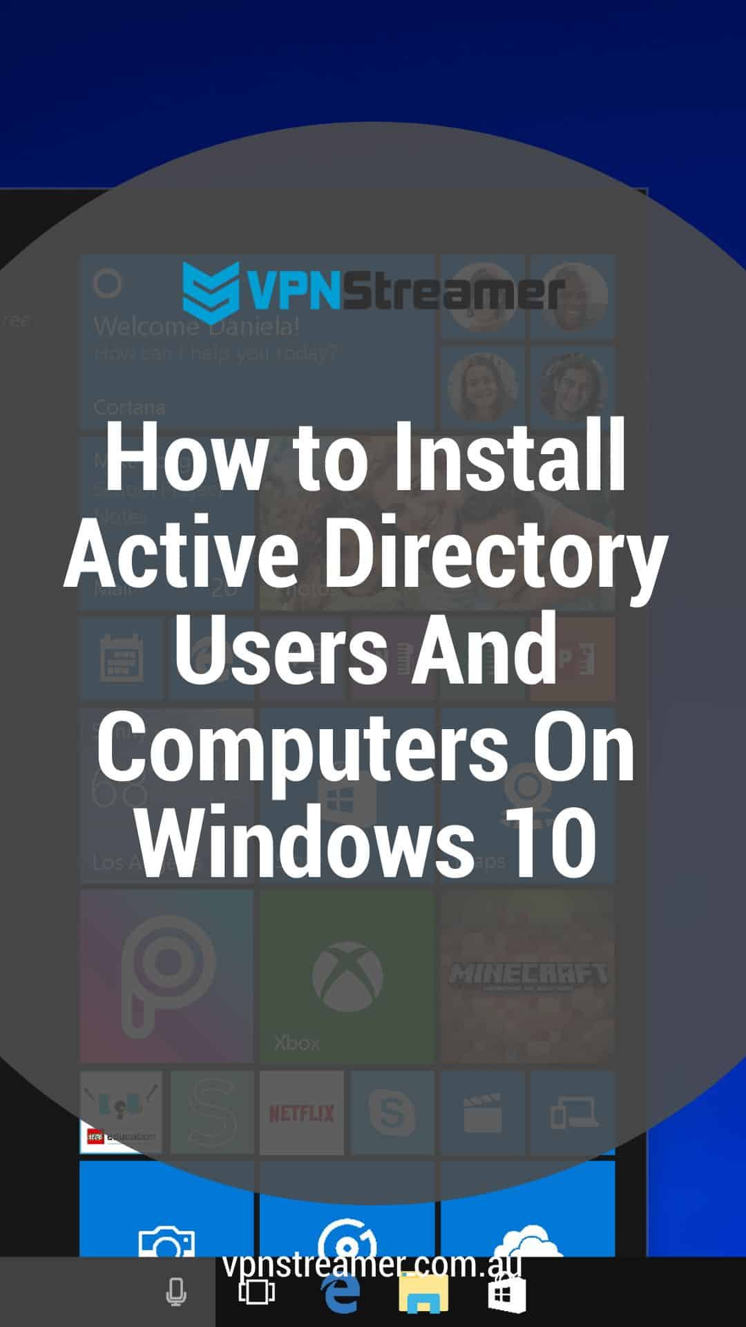 How to Install Active Directory Users And Computers On Windows 10